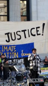 November 21, 2015 Greenaction's Marie Harrison speaks at Climate Justice rally in Oakland CA