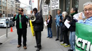 Anthony Khalil of LEJ speaks at protest Jan 28 2016