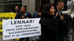 Protest vs. Lennar Corp. Pollution & Gentrification Jan 28, 2016